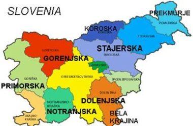 Словения, регионы