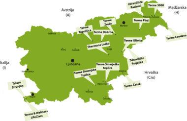 Карта терм Словении