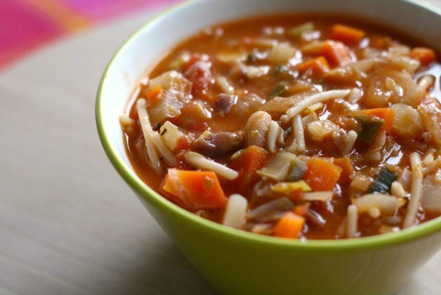 Словенский овощной суп Минештра