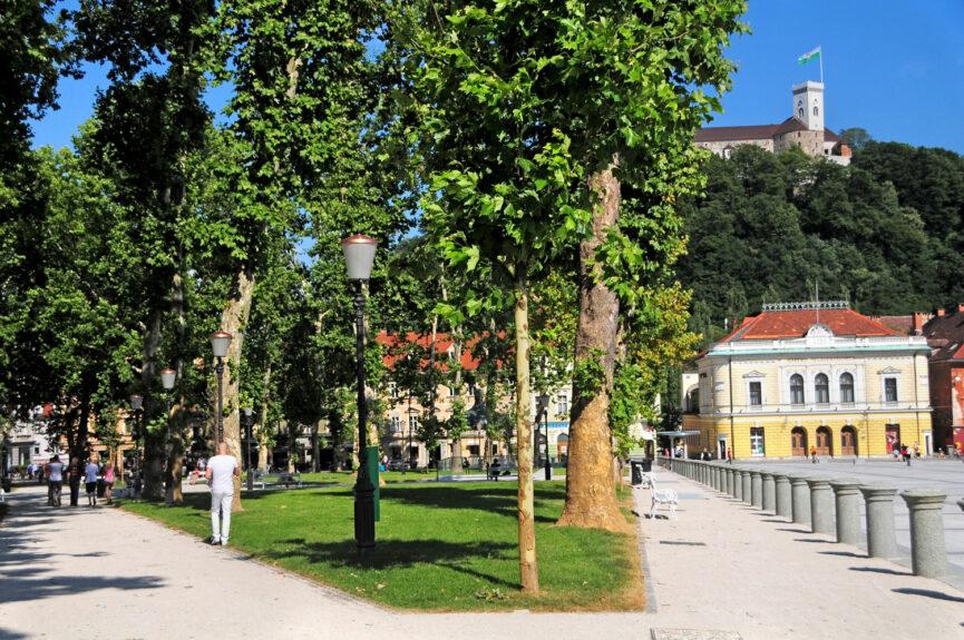 Площадь Конгресса в Любляне