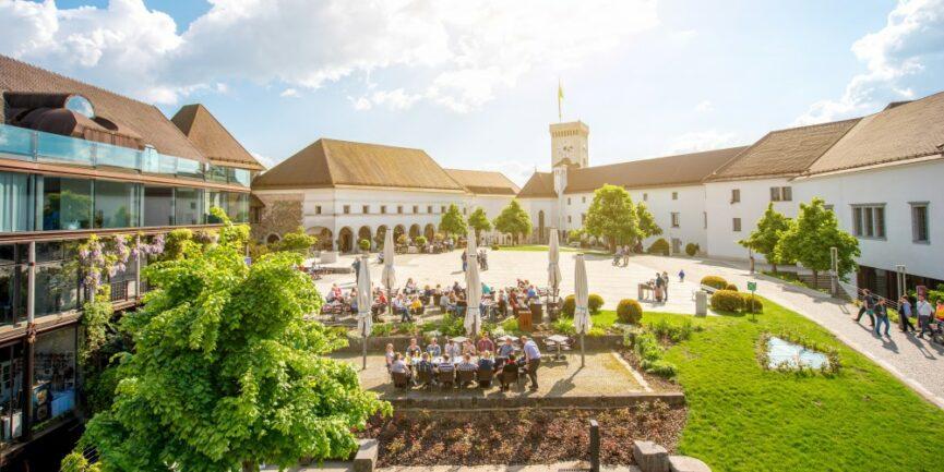 Люблянский замок главная площадь