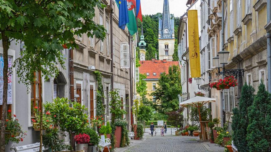 Средневековые улочки Любляны