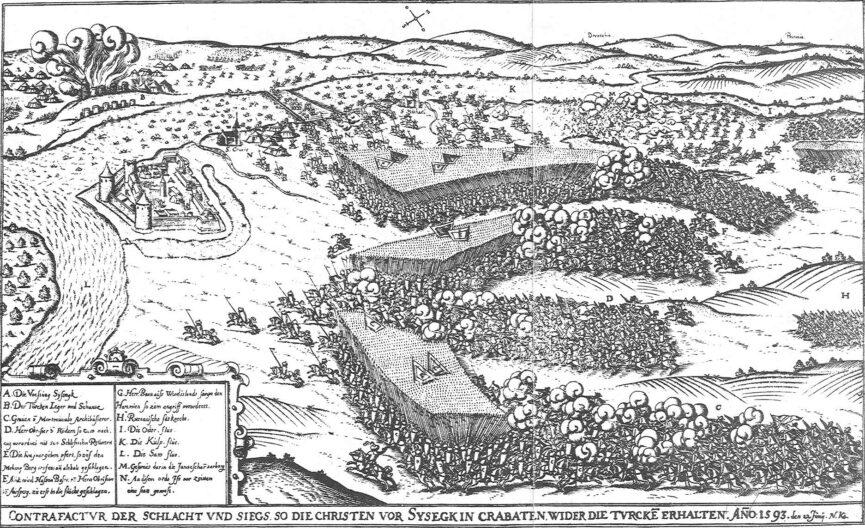 Битва при Сисаке. Иероним Эртель, Нюрнберг, 1665.
