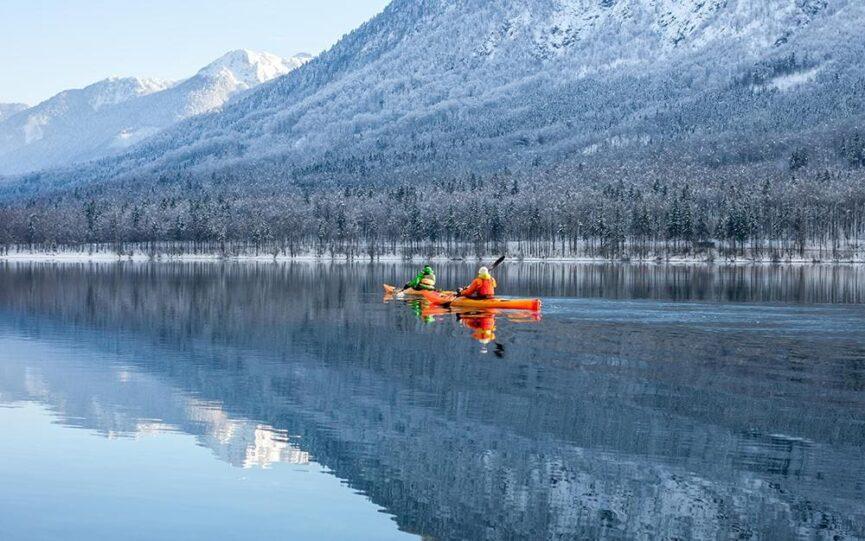 Озеро Бохинь, каякинг