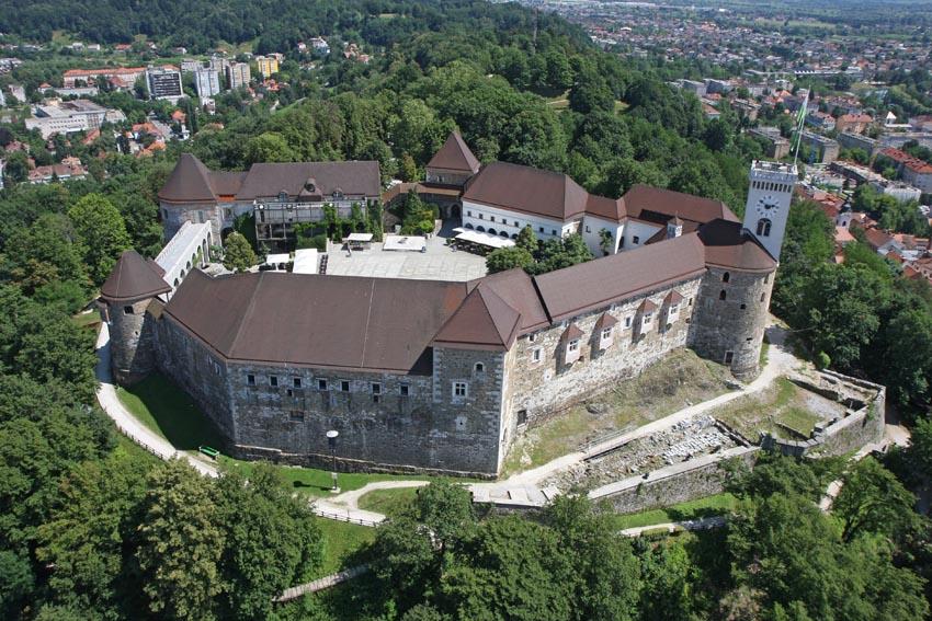 Люблянский замок, вид сверху