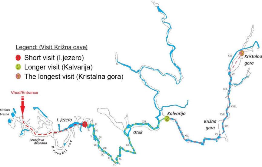Крижна пещера на карте