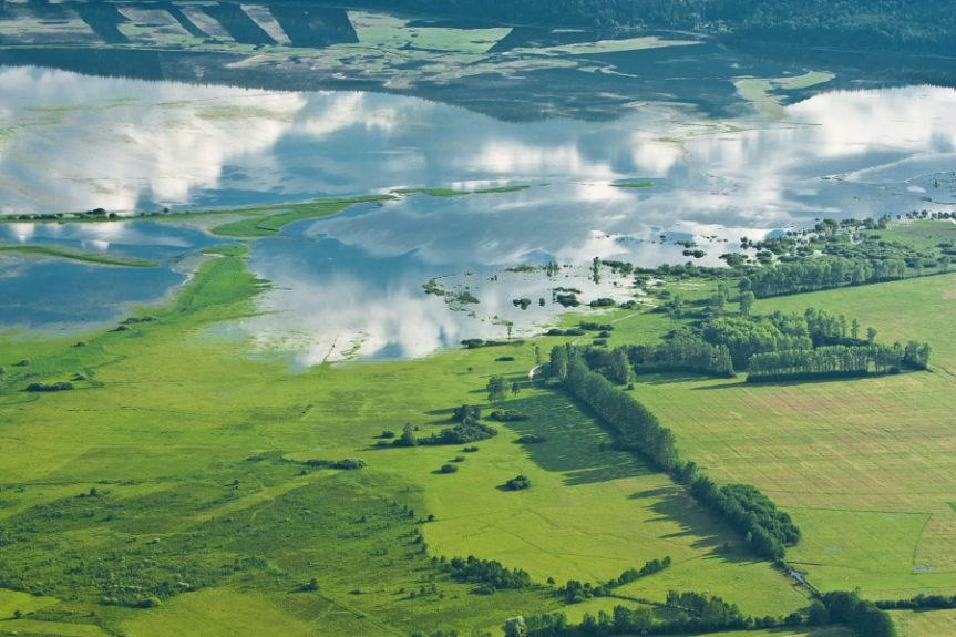 Церкнишкое озеро в разливе