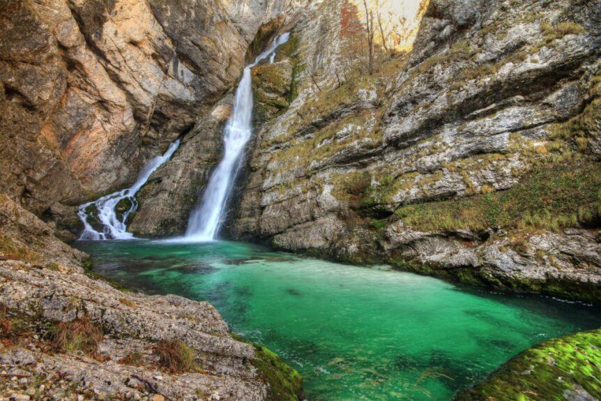 Водопад Савица на Бохинь