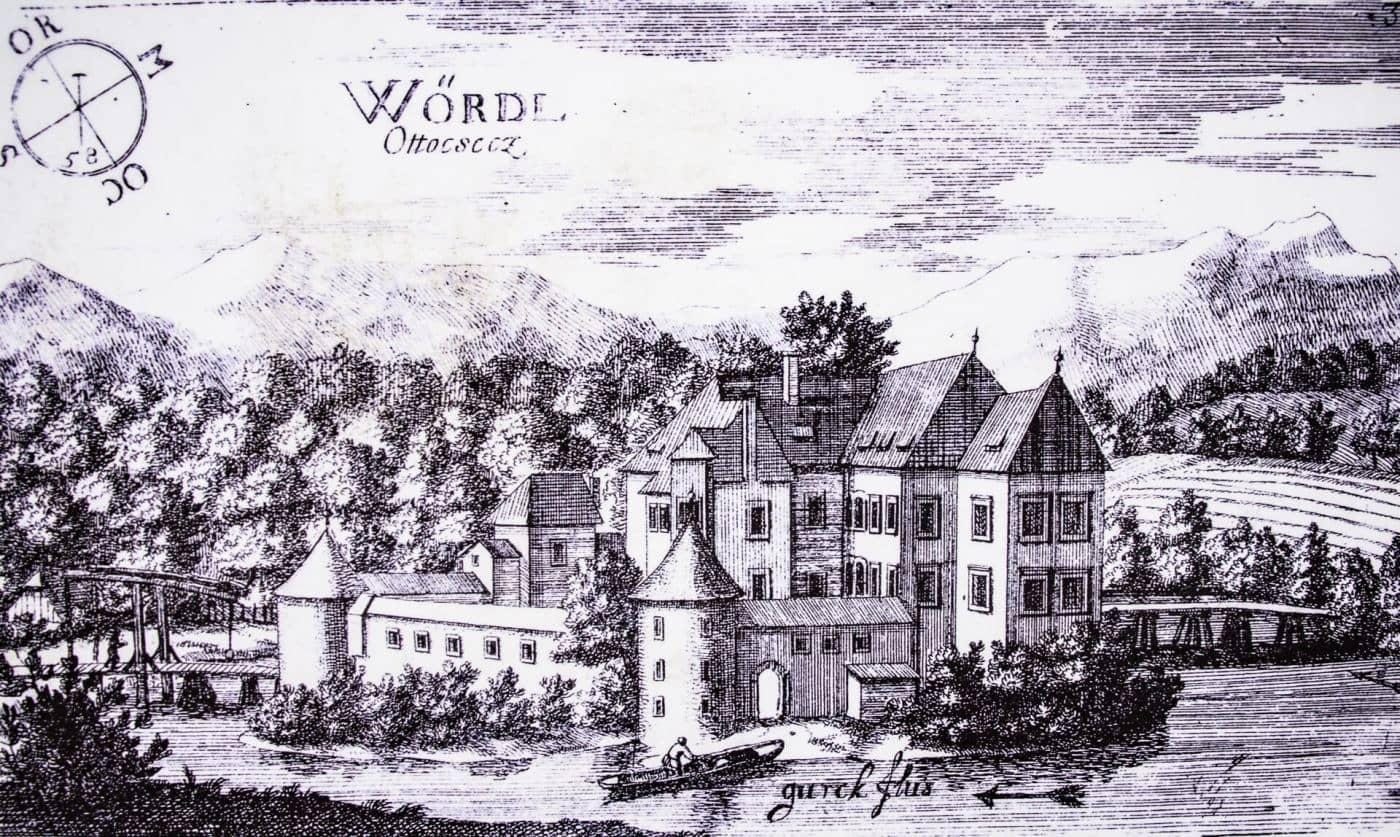 Замок Оточец на гравюре