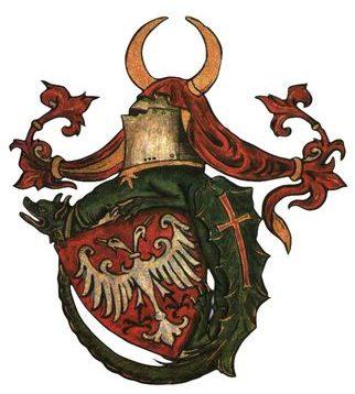 Герб Лазаревичей в форме ордена Дракона.