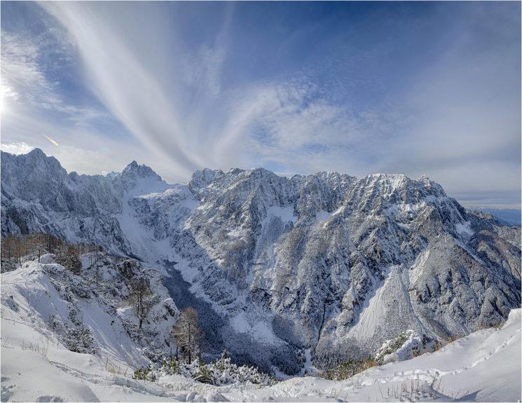 Панорама на Слеменовой Шпице