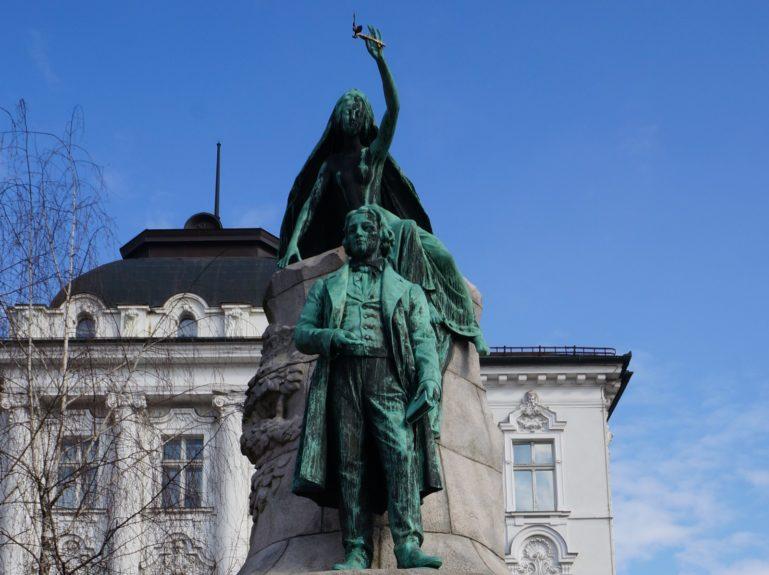 Памятник Ф.Прешерну
