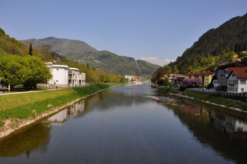 Река Савинья в Лашко