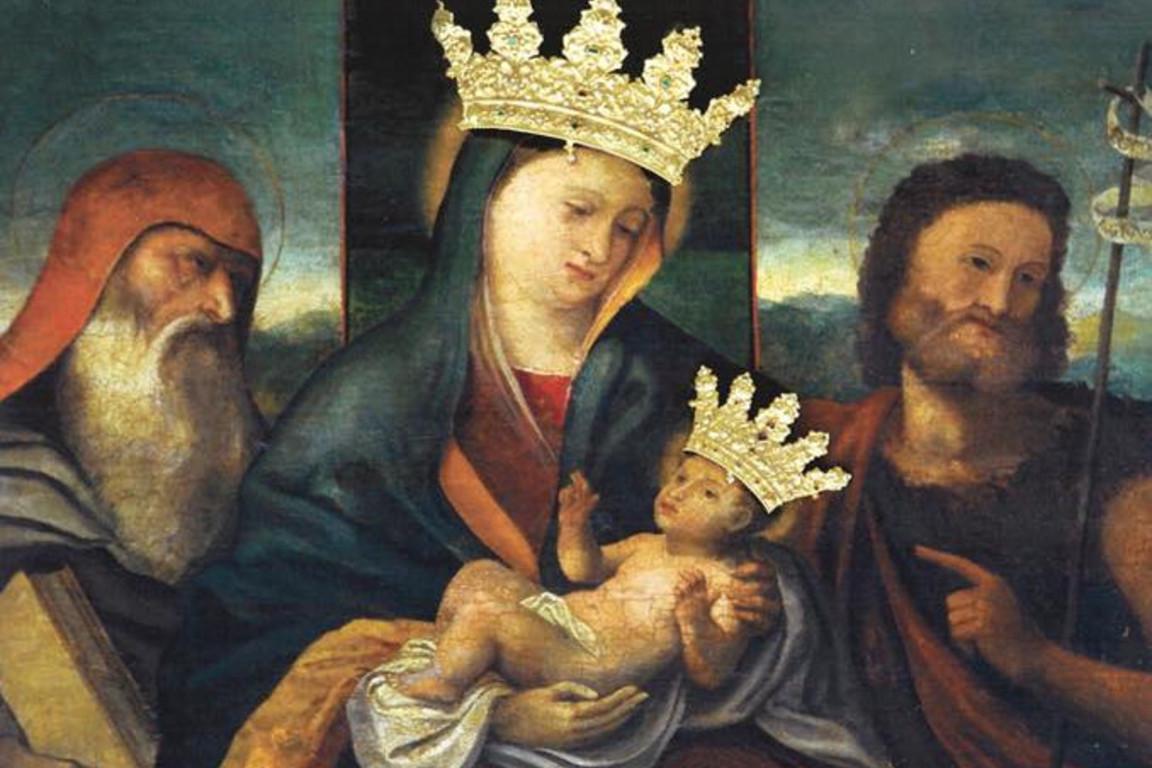 Чудодейственная икона святой Марии, коронована в 1717 году
