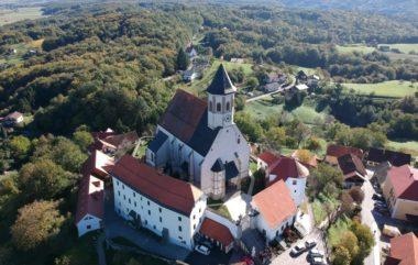 Птуйская гора и базилика Марии заступницы в Словении