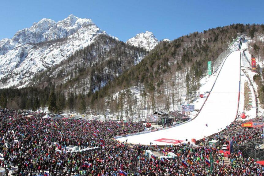 Лыжный трамплин в словенской Планице