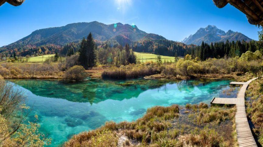 Словенское озеро Зеленцы