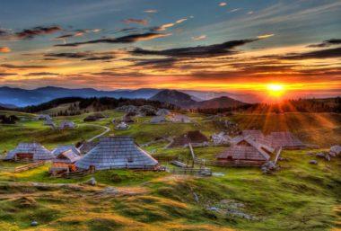 ПУТЕШЕСТВИЕ ПО СЛОВЕНИИ, Закат на Великой Планине