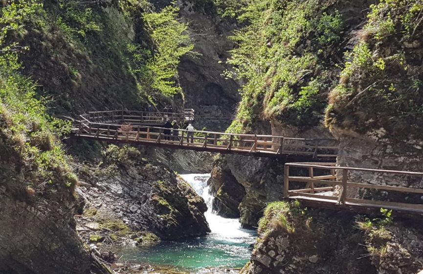 Галерея мостов вдоль ущелья Винтгар