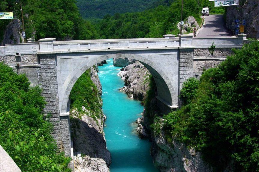 Мост Наполеона в Кобариде и река Соча
