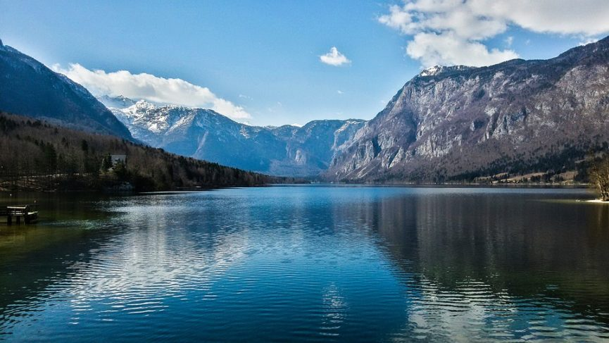 Вид на озеро Бохинь