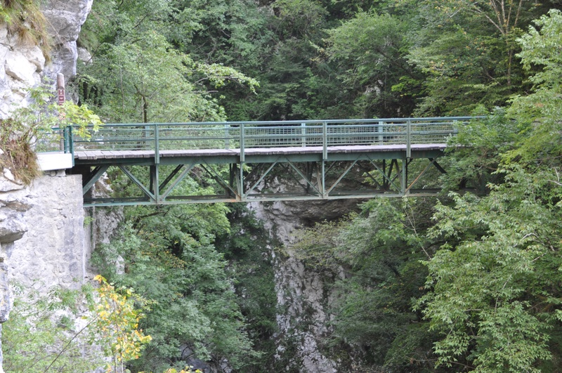 Чертов мост в Толминском ущелье