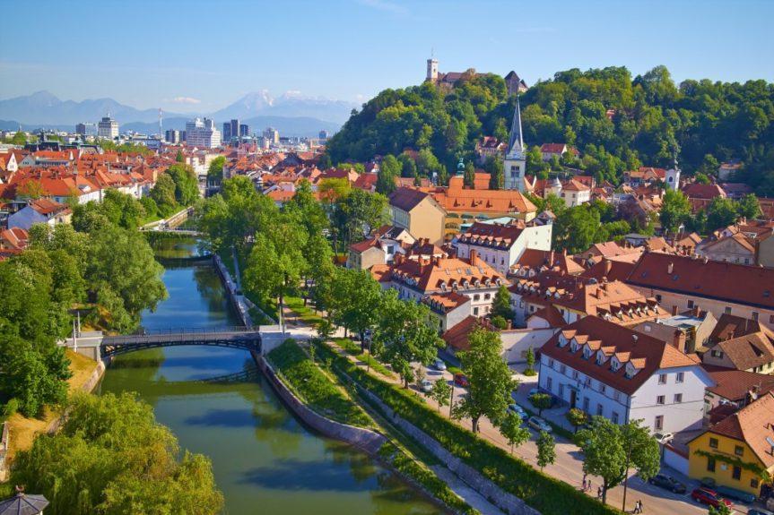 Любляна вид на реку Любляницу