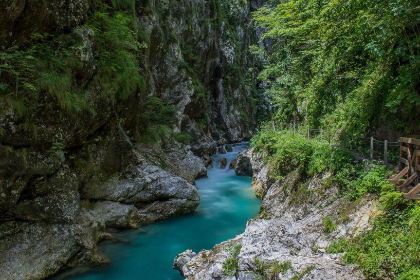 Толминская впадина в Словении