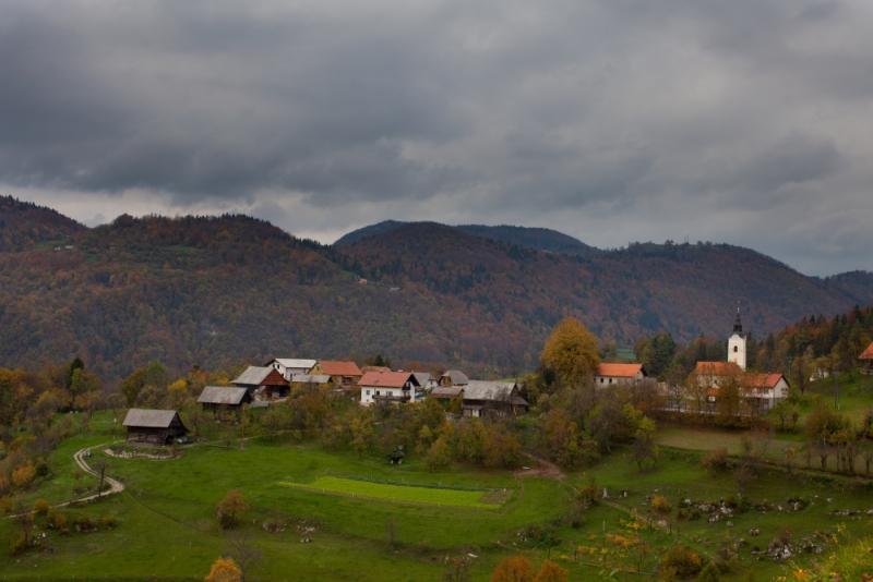 Словения, деревня Коньшица