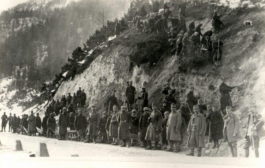 Русские военнопленные на строительстве перевала Вршич