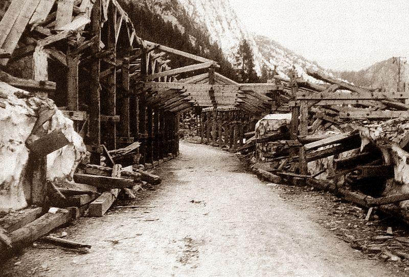 Строительство дороги через перевал Вршич в Словении