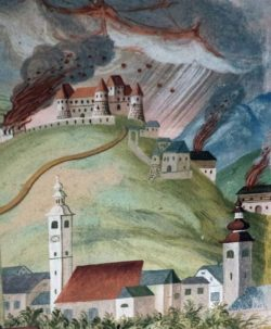 Фреска в церкви св. Лаврентия в селе Жабьек
