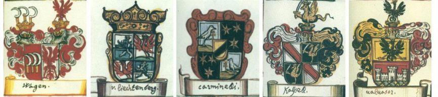 Гербы некоторых владельцев замка Богеншперк