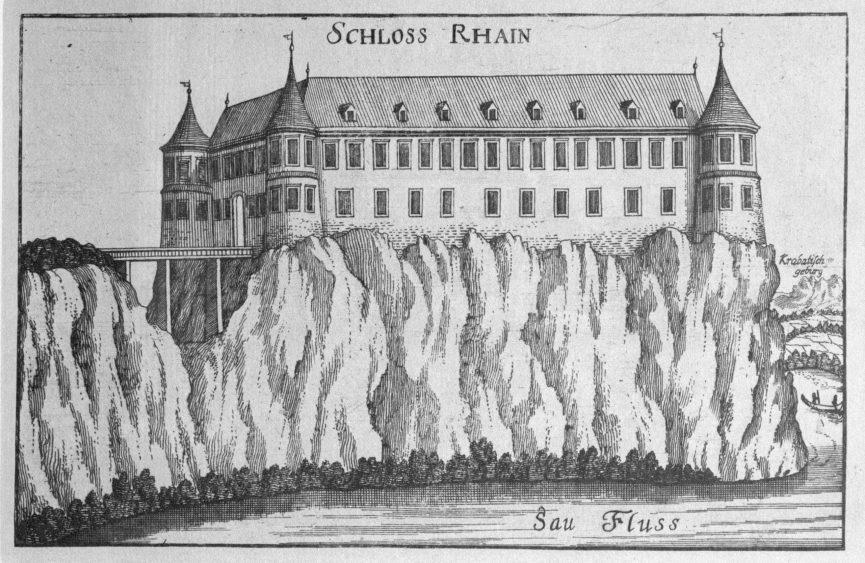 Замок Брежице на гравюре 1681 года