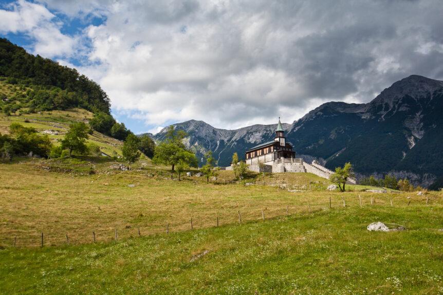 Гора Яворца и церковь св. Духа