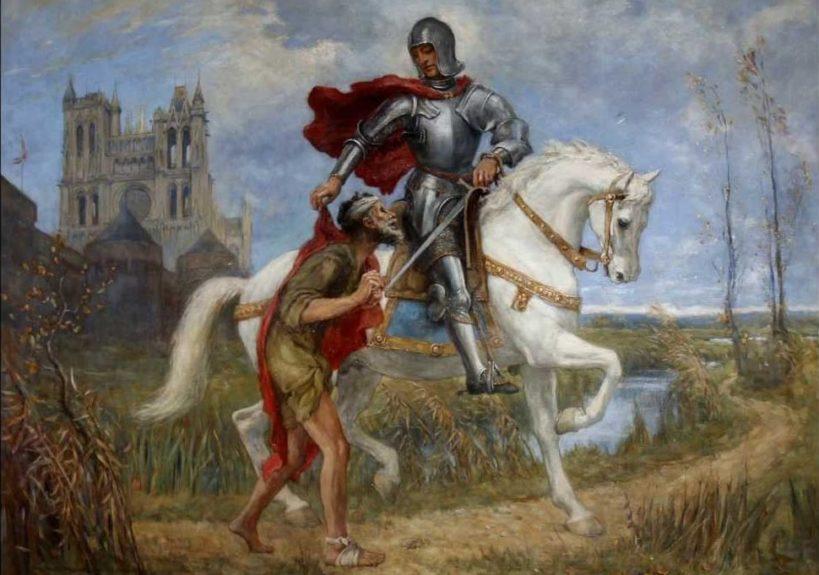 «Св. Мартин и нищий», Автор: Вилфред Томпсон