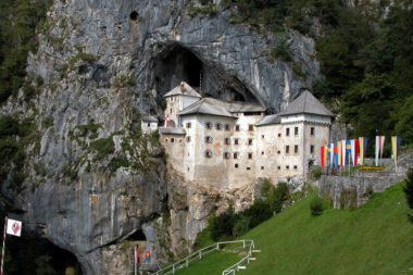 Предъямский замок в скале