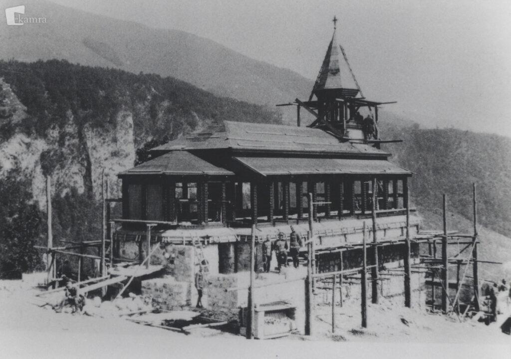 Строительство церкви на Яворце