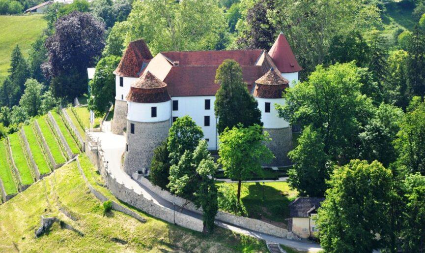 Замок Cевница, вид сверху
