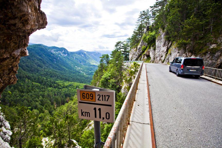 трансфер, Отличные дороги Словении