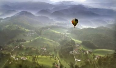 Словения на воздушном шаре