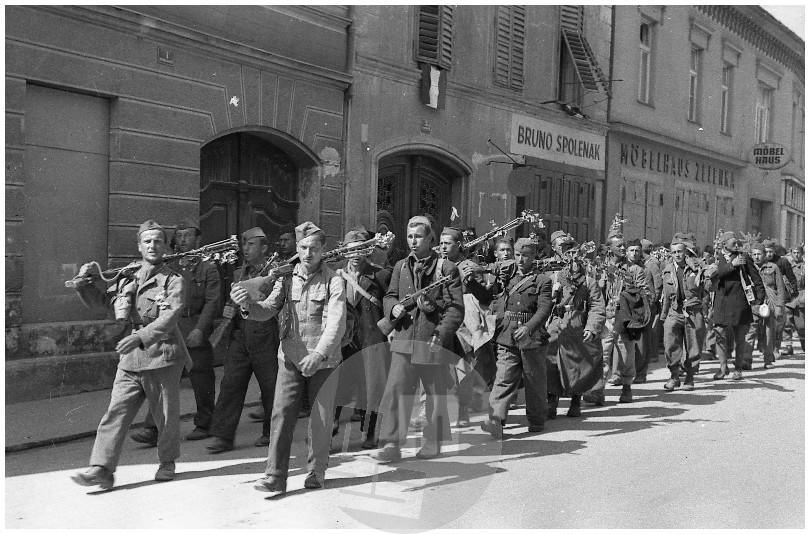 Возвращение словенских партизан домой