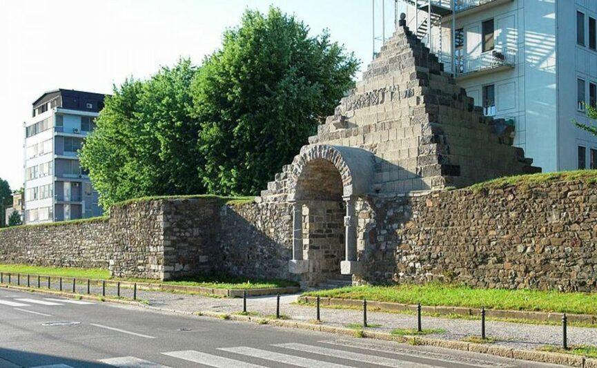Остатки римской стены в Любляне
