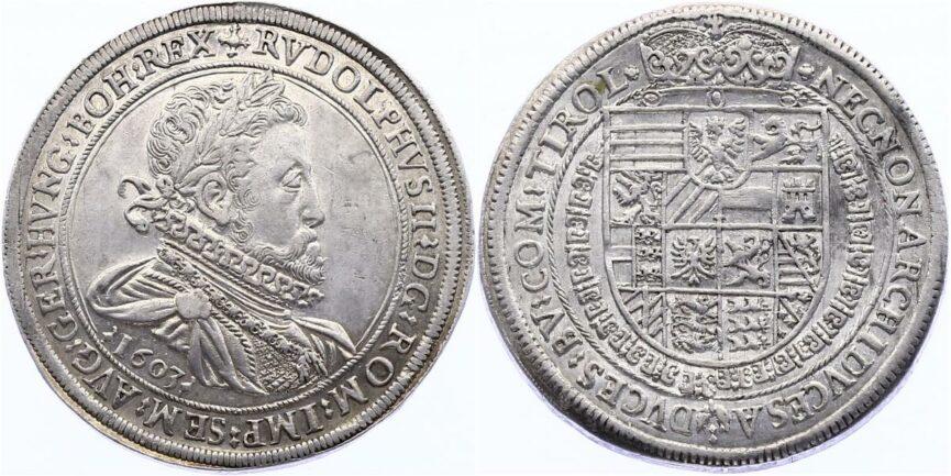 Талер с изображением Рудольфа II, 1603 год