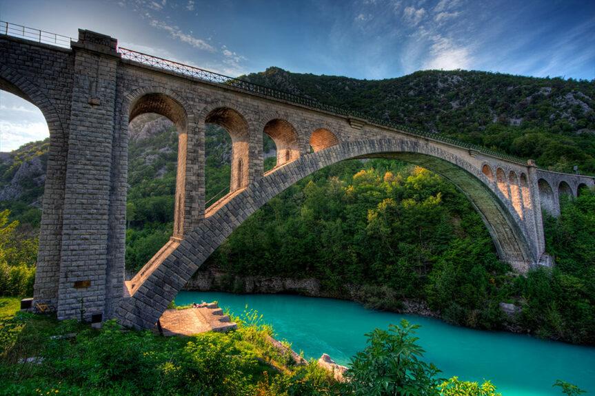 Несущая арка Солканского моста
