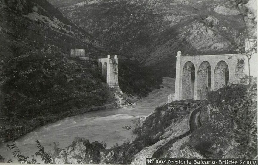 Разрушенный Солканский мост