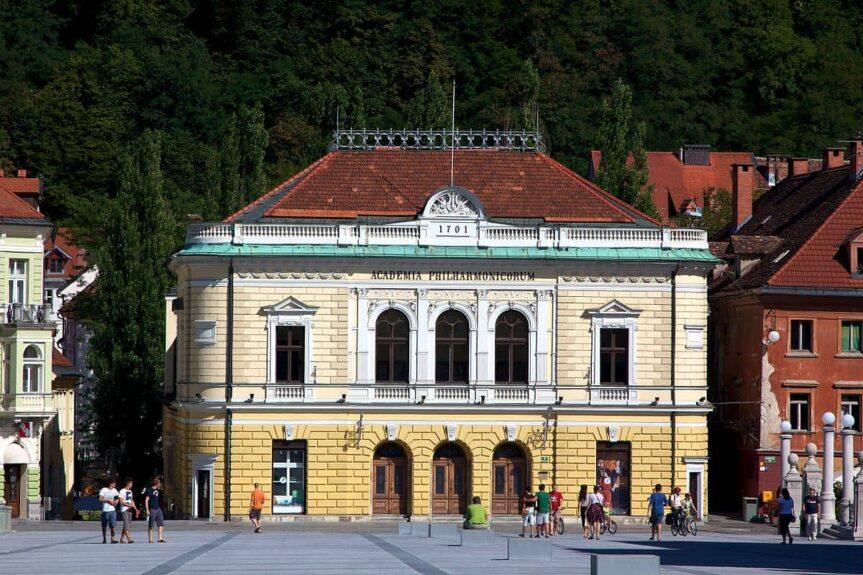Здание словенской филармонии