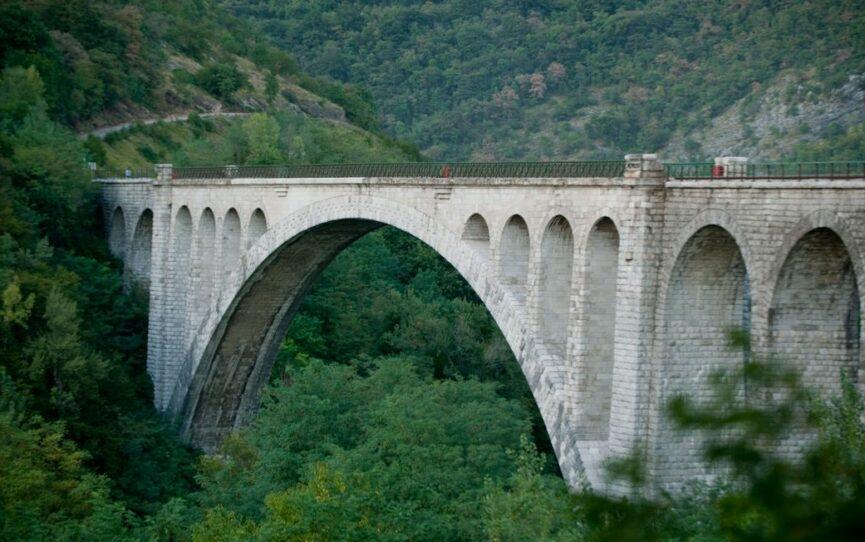 Солканский мост с четырьмя боковыми арками