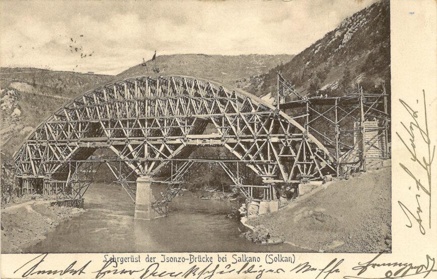 Строительство Солканского моста 1905 год