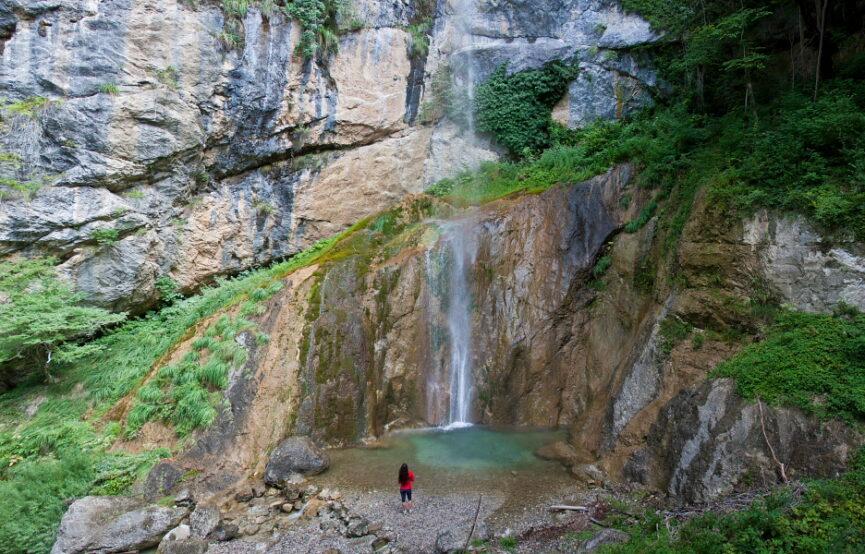 Водопад Сопота в Горишком регионе Словении
